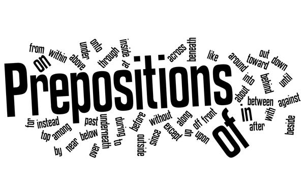 знакомство с предлогами и словами