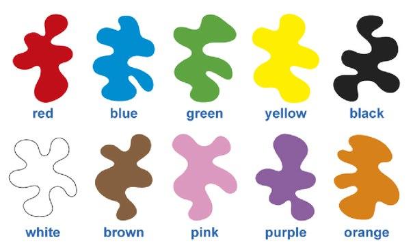 Как будет голубой цвет по английски
