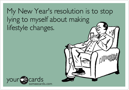 New Year's resolution пример