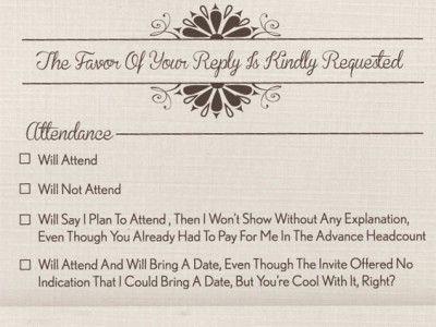 приглашение на свадьбу ответ